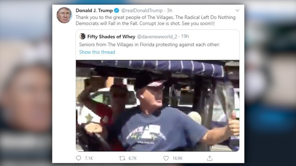 Trump Retweets Video of Supporter Shouting