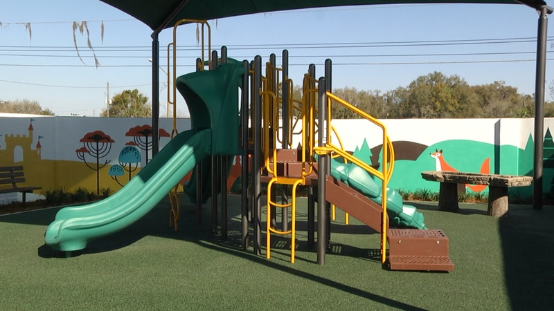 Thursday, at Kimberly's Center for Child Protection, they unveiled a new therapeutic playground...