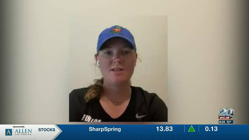 Gators women's golfer, Addie Baggarly, shares her thoughts on a successful golf season.