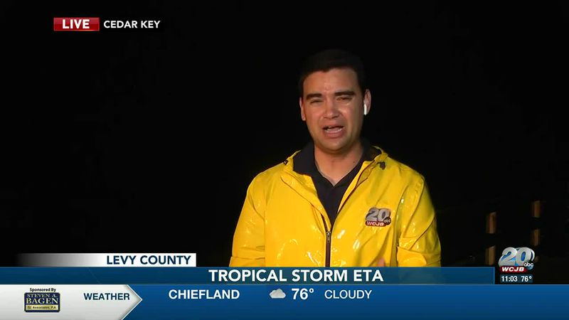 Latest on Eta live from Cedar Key, Fla.