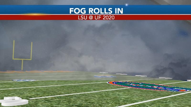 Meteorologist Alex Carter explains what caused the dense fog during 2020's game versus LSU