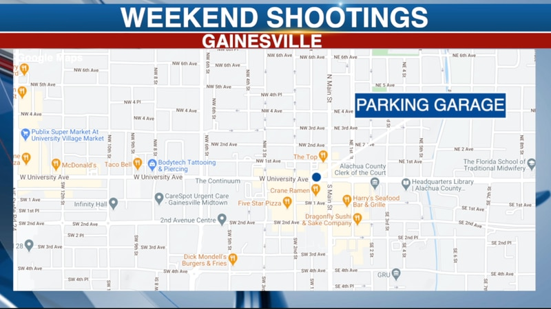 Gainesville Police responded to multiple incidents of gun violence last weekend.