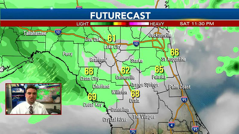 Cold front moves through Sunday night
