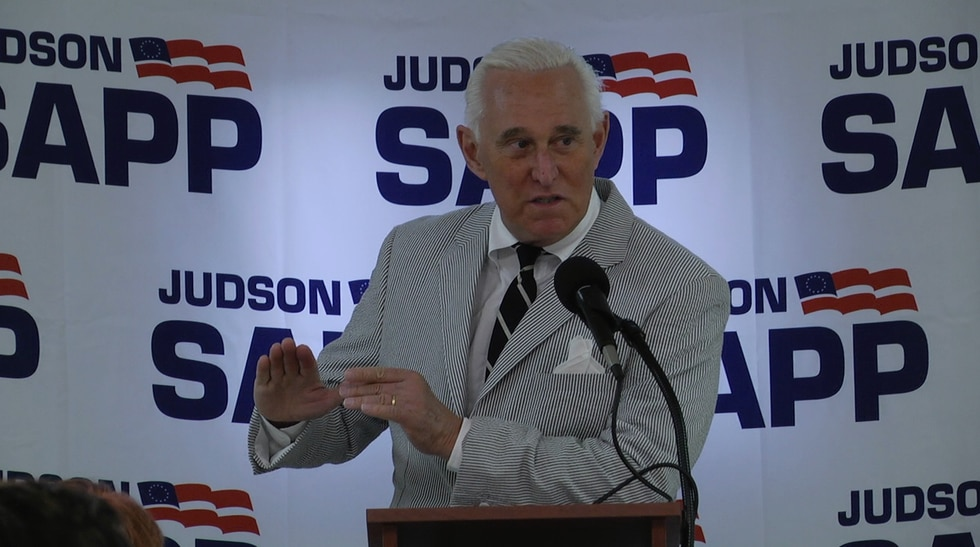 Roger Stone at Sapp event