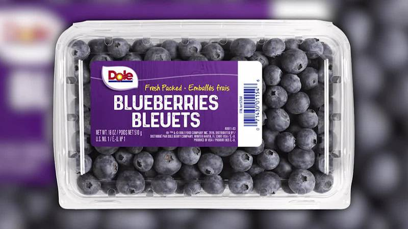 Dole recalls limited amount of blueberry packages for possible cyclospora contamination.
