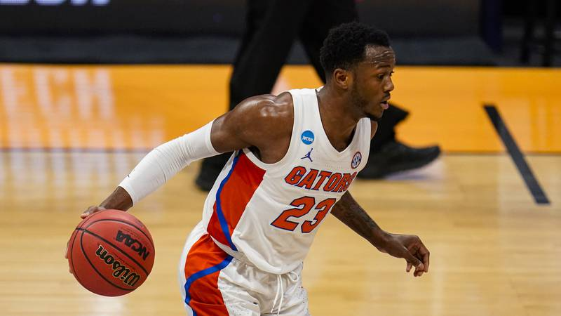 Florida guard Scottie Lewis (23) plays against Virginia Tech in the first half of a first round...