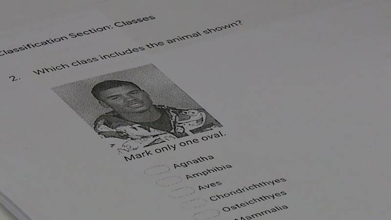 The first question on the zoology final at Ralston High School showed a yearbook picture of...