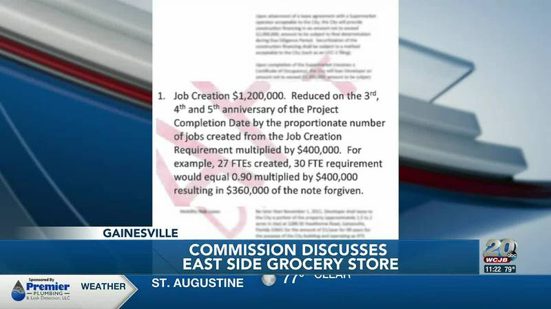 Gainesville commissioners move forward with their efforts to help fund an east side grocery store