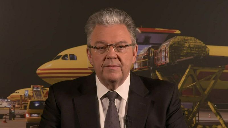 DHL Express CEO John Pearson promises to deliver frozen vaccine shipments to the developing...