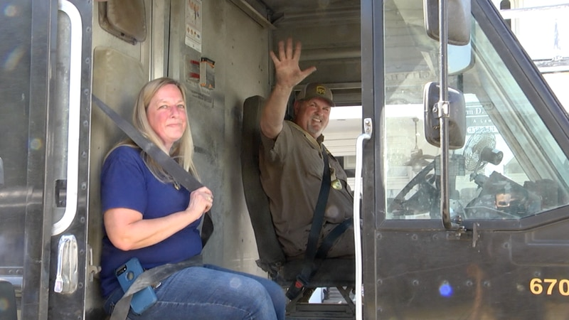 Cedar Key's beloved UPS driver retired from the job on Tuesday.