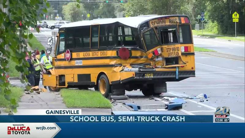 Police are investigating two school bus crashes in Alachua County