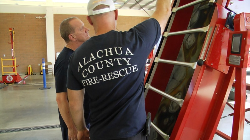Alachua County Fire Rescue's new training equipment put to the test