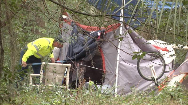 Homeless camp in Ocala torn down