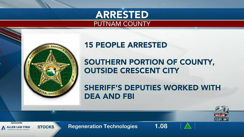 Fifteen people are in jail following investigation of several homes and meth bust in Putnam...