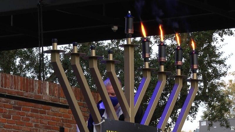 Gainesville residents celebrate Hanukkah with Menorah lighting