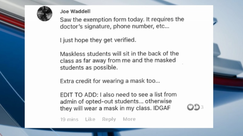 Reaction to a post by an Alachua County Public Schools teacher is adding to the controversy...