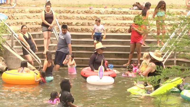 Families enjoy Poe Springs Park reopening