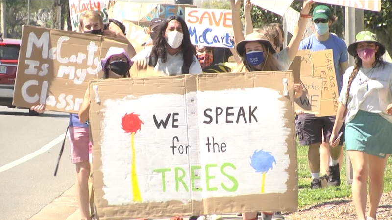 UF students protest future McCarty Woods development