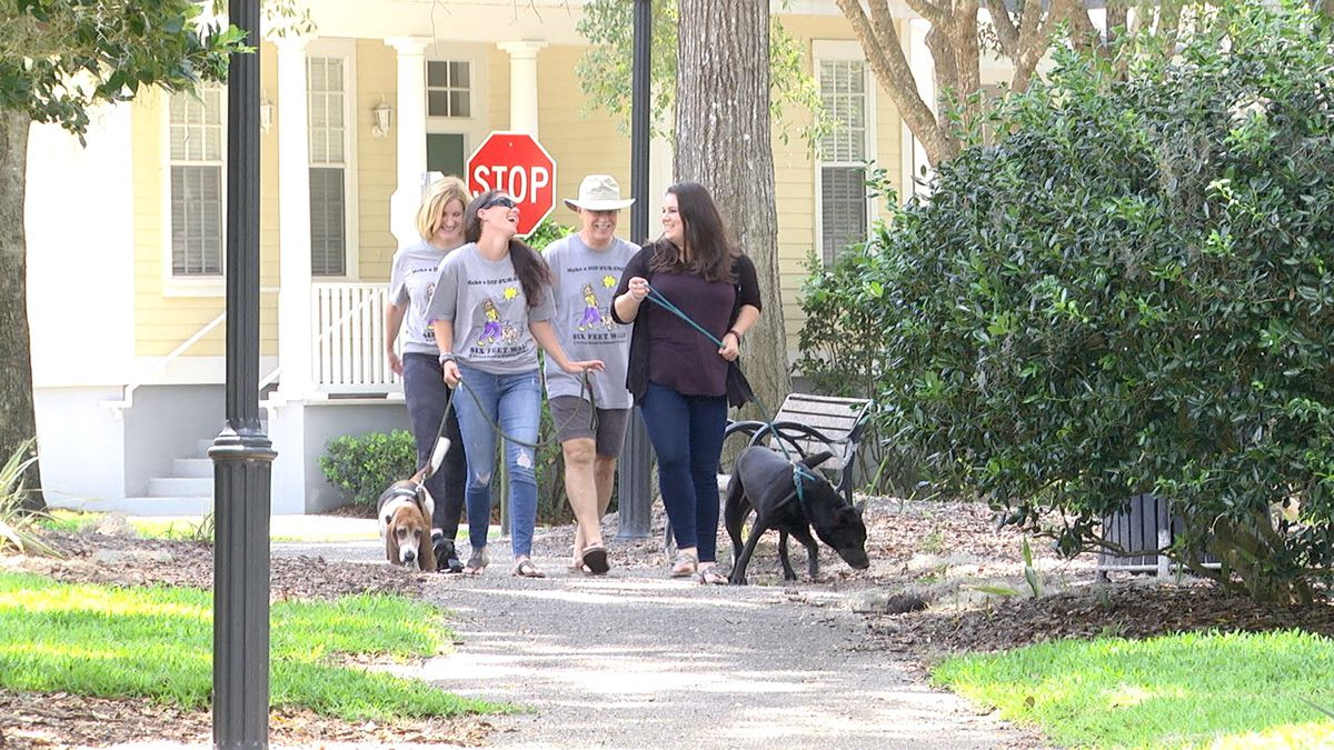 """Peaceful Paths in Gainesville is raising money for survivors of domestic violence through its virtual """"Make a Dif-fur-ence Six Feet Walk,"""" which is part of a month-long """"Covid-Conscious"""" fundraiser."""