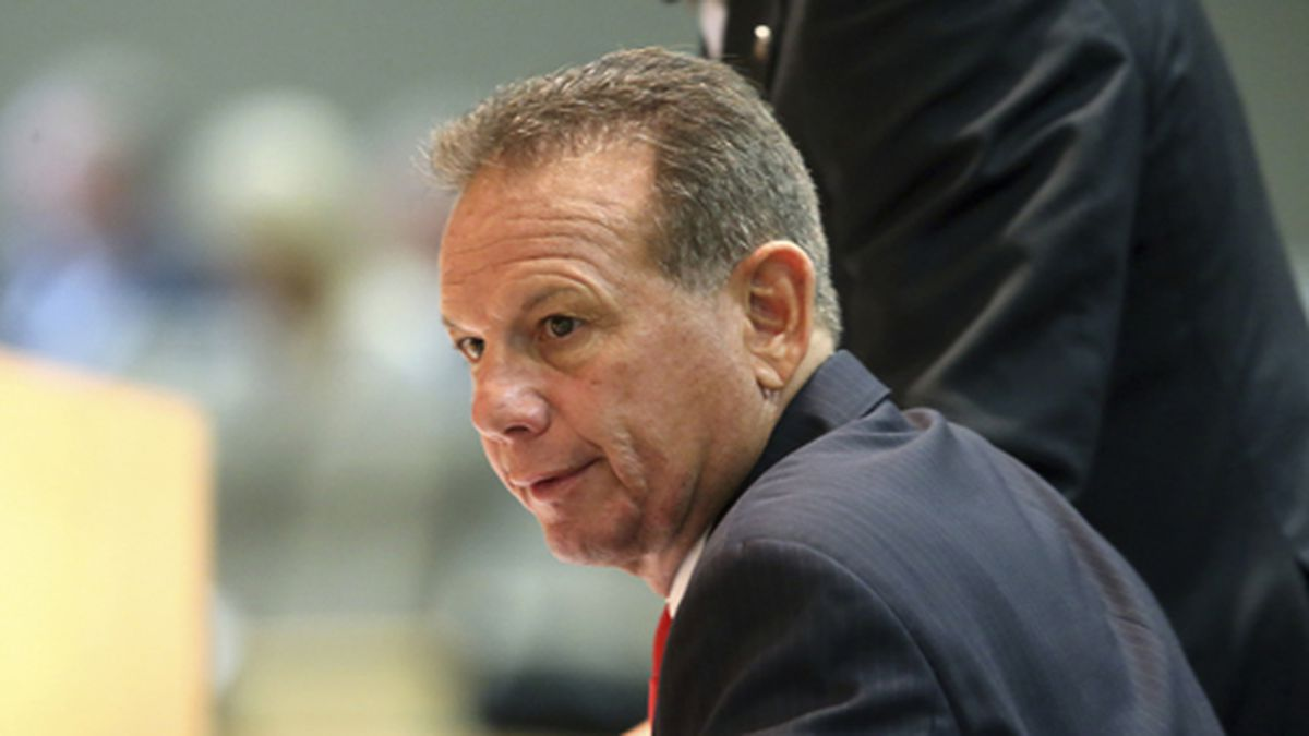 Former Broward County Sheriff Scott Israel appears before the Senate Rules Committee concerning his dismissal by Gov. Ron DeSantis, Monday, Oct. 21, 2019, in Tallahassee, Fla. (AP Photo/Steve Cannon)