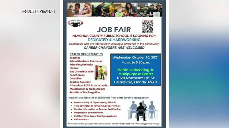 Alachua County Public Schools organizes job fair to fill vacant positions