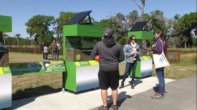 The exhibits explain the water cycle, and show how plant and wildlife impact the park.