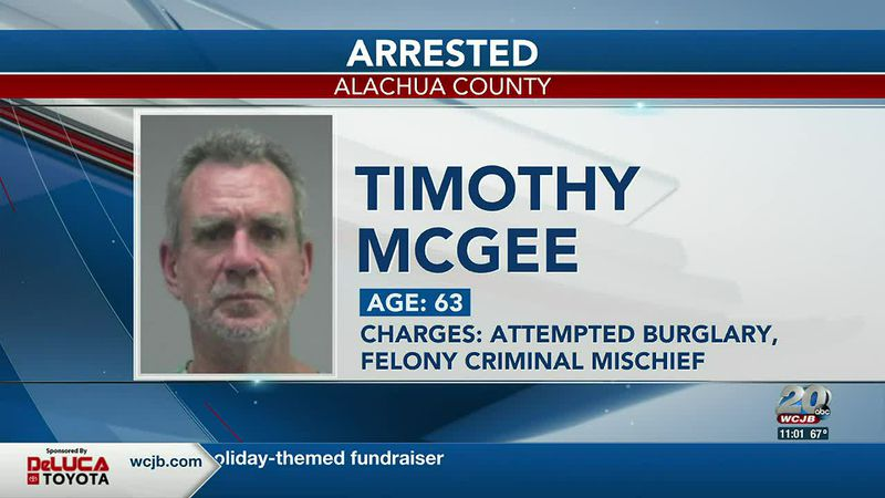 Timothy McGee was arrested for trying to break into a liquor store in High Springs.