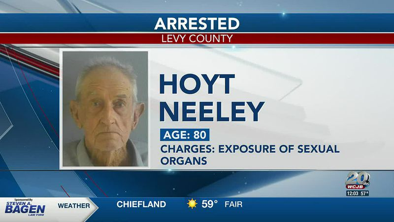 An 80-year-old man arrested after exposing himself at a NCFL Walmart