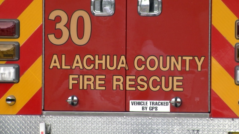 Firefighters responded to an apartment fire in Alachua County Monday afternoon.