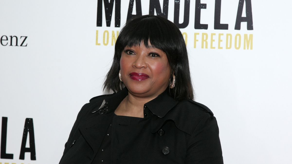 "Zindzi Mandela, daughter of Nelson Mandela, attends the New York premiere of ""Mandela: Long Walk To Freedom"" on Thursday, Nov. 14, 2013 in New York."