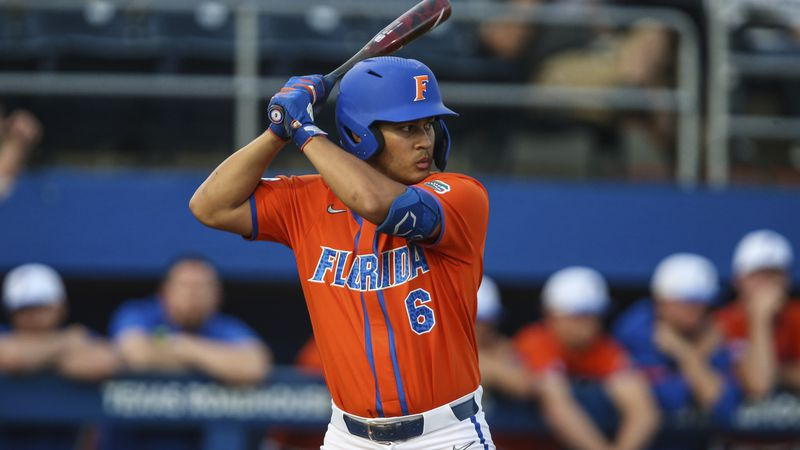 Florida first baseman Kendrick Calilao (6) during an NCAA baseball game against Florida A&M on...