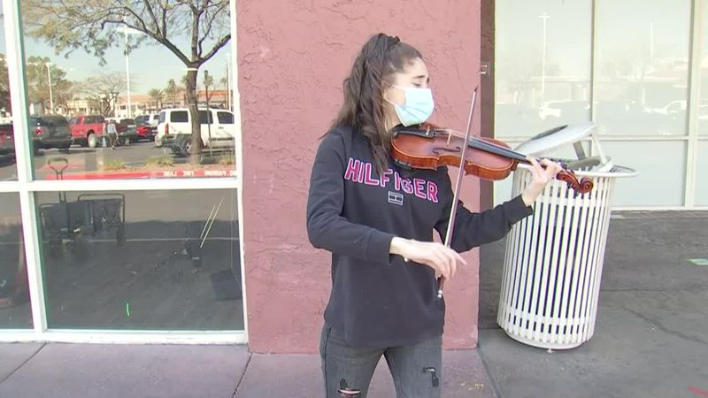 The young woman has been playing the violin for more than 12 years and graduated from a...