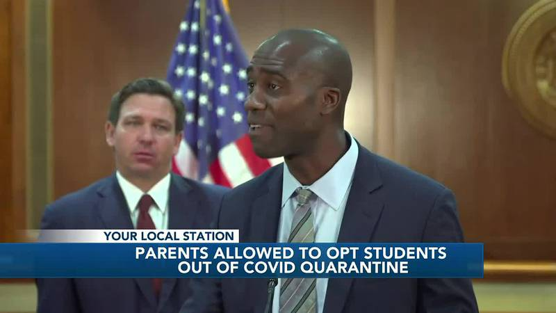 Florida Department of Health rule allows parents to opt students out of COVID quarantines, ACPS...