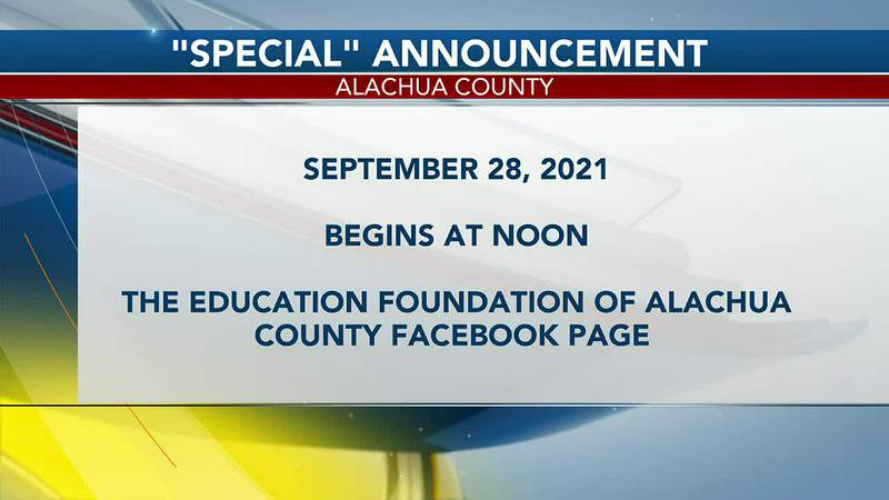 Alachua County Special Announcement