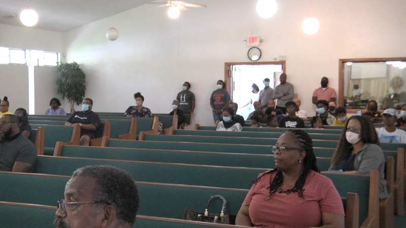 People concerned about the rise in gun violence in Gainesville packed the Southeast Tenth...