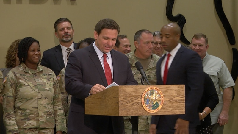 Governor Ron DeSantis announces $3.4 million is going to military spending in the state of...