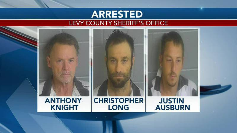 Levy County Sheriff's deputies arrest three in a drug bust