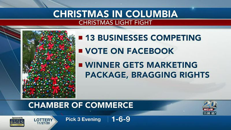 13 businesses competing for who has the best Christmas decorations