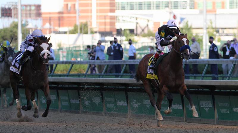 Tiz the Law was never able to overtake Baffert's Authentic in an upset at the derby.