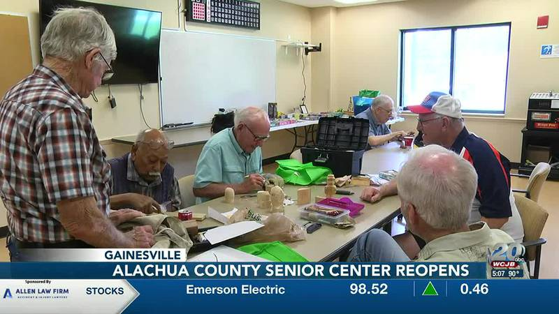 Alachua County Senior Center reopens after being closed for a year due to COVID-19