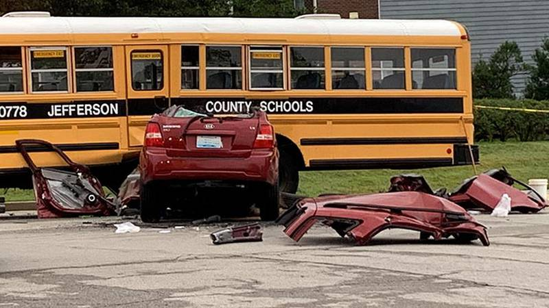 A Jefferson County Public Schools bus carrying 60 middle and high school students was involved...