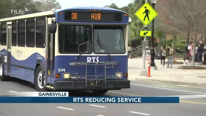 Gainesville bus service reducing frequency of select routes
