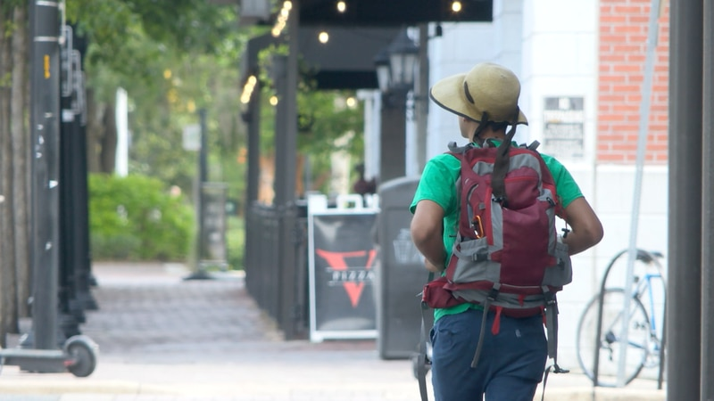 Climate pilgrim on 800-mile walk protesting climate change to stop in NCFL