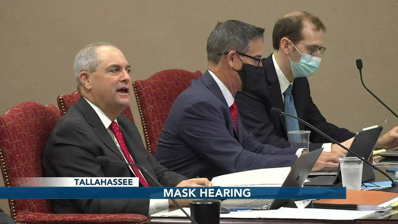 DeSantis mask rule on trial: day one