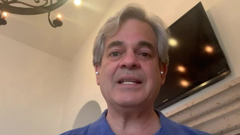 The mayor of Austin, Steve Adler, told people to stay home in a video taken from where he was...