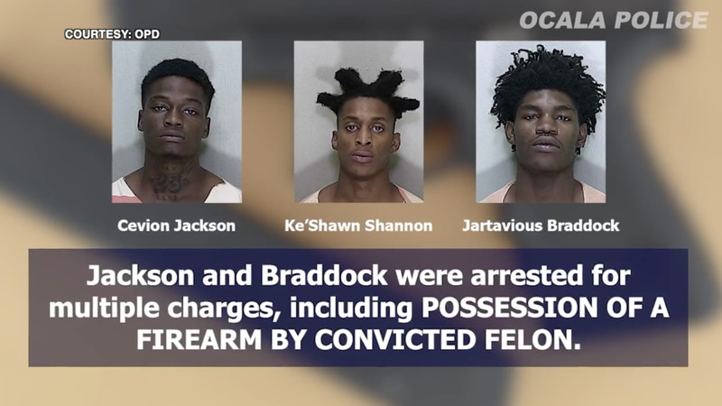 Ocala police recovered multiple stolen guns and arrested three people accused of stealing them.