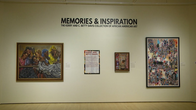 The African American art collection features different artists over the past 100 years, in...