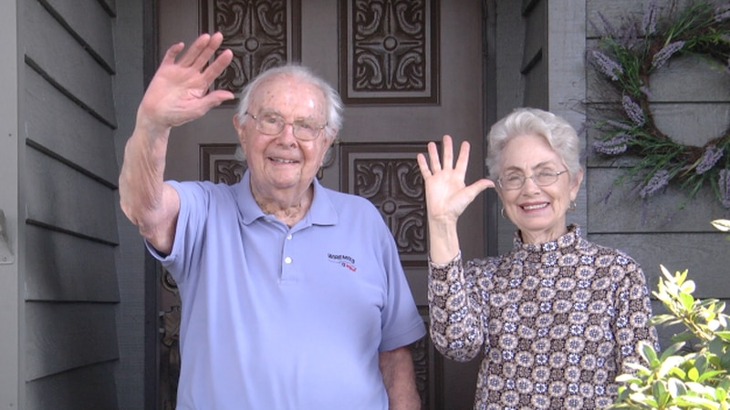 War veteran surprised with drive-by celebration on 100th birthday