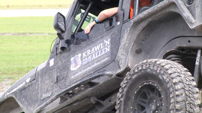 Jeeps and four wheelers are rolling for a good cause at the 'Krawlin' for the Fallen' event for...