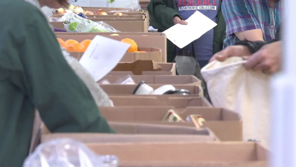 Fresh produce and other foods are distributed at the St. Joseph Food Program in Menasha (WBAY...